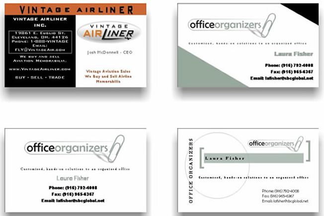 business cards - business cards templates forms images and samples